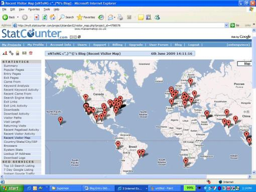 StatCounter Visitor Map 00