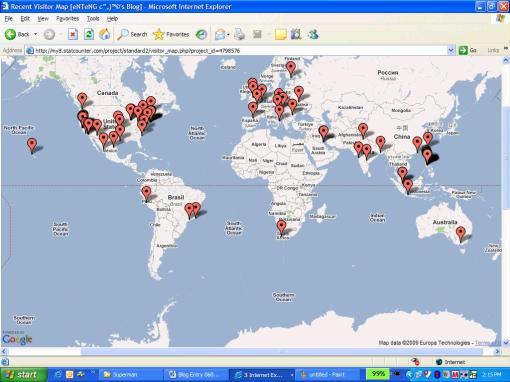 StatCounter Visitor Map 01