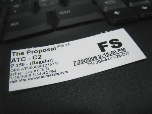 ATC - The Proposal Movie Ticket