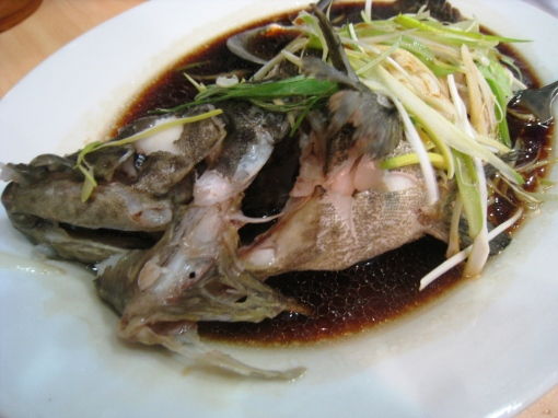 King Bee - Steamed Lapu-Lapu in Brown Sauce