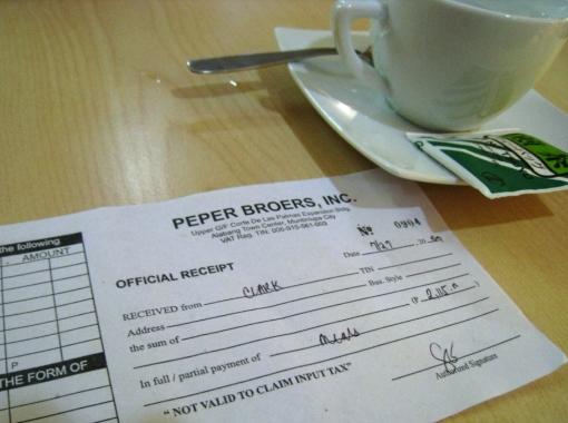Pepper Lunch - Official Receipt