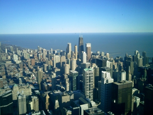 Sears Tower - Looking North from the Sears Tower Skydeck