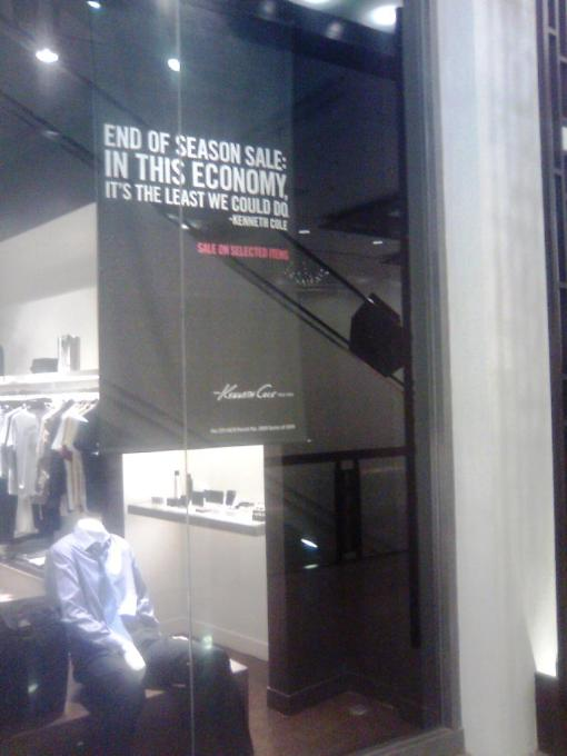 Shopping - Kenneth Cole Sign 01