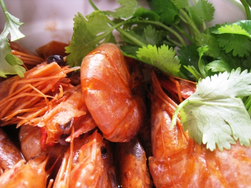 Wansuy - Shrimps with oyster sauce 01