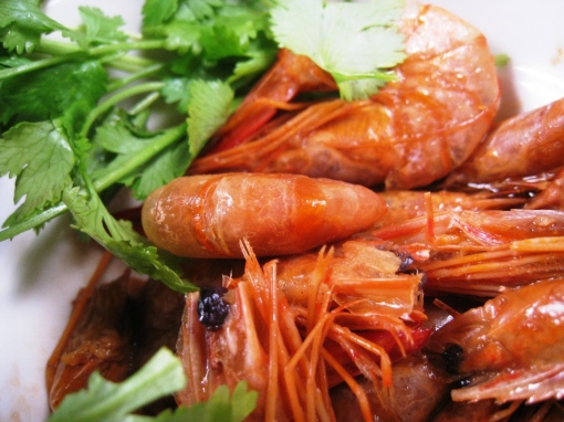 Wansuy - Shrimps with oyster sauce 02