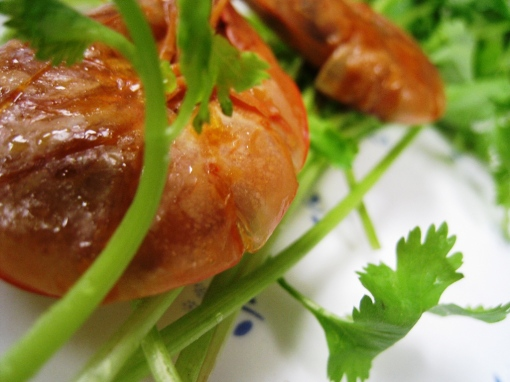 Wansuy - Shrimps with oyster sauce 03