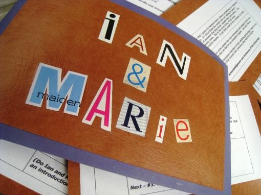 Ian Marie Wedding - Cue Cards eNTeNG