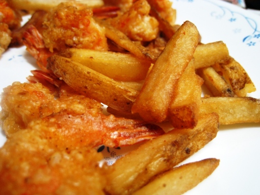Burgoo Jumbo Shrimp & Fries 01