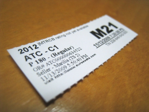 2012 Movie Ticket 00