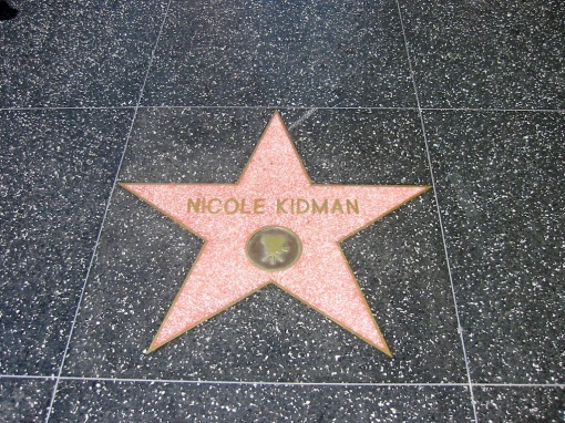 Hollywood Walk of Fame Favorite - Nicole Kidman
