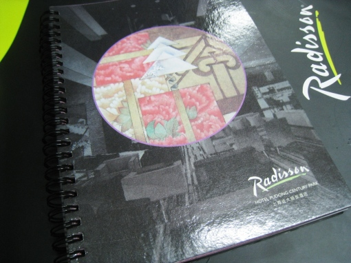 Radisson Hotel Notebook 00