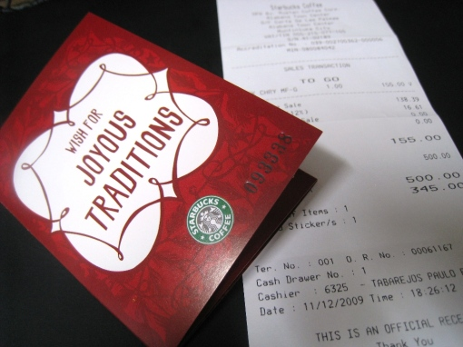 Starbucks 2010 Planner Card 00