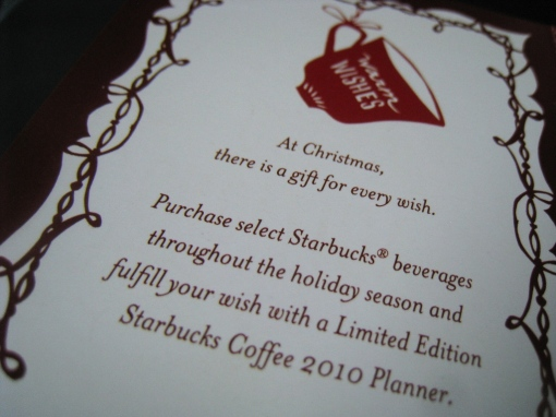 Starbucks 2010 Planner Card 01