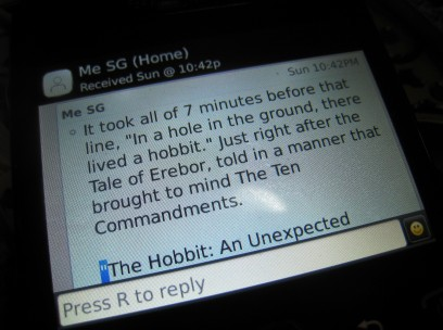 RIS - The Hobbit