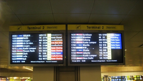 Changi Airport - Departure Board