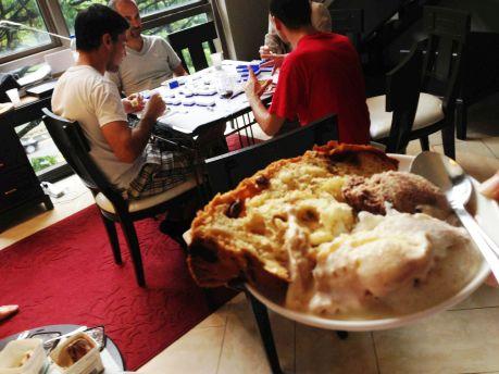 Italian Lunch - Food 10 Panettone with Gelato