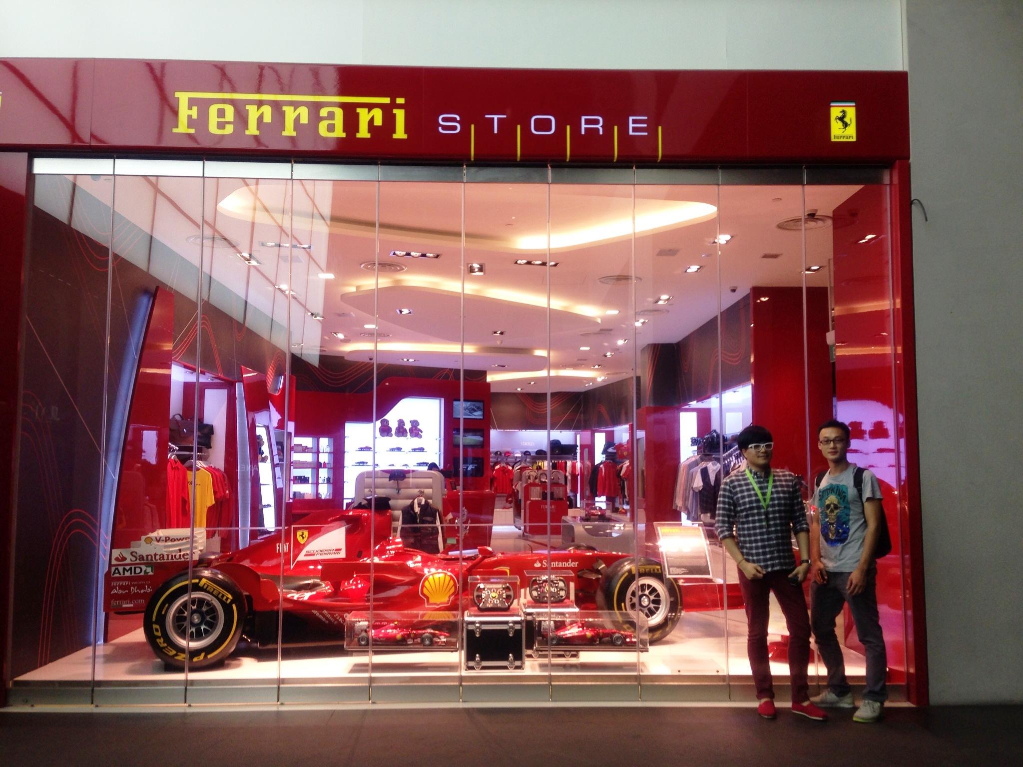 dece5fb31c5 100912 Bin eNTeNG Ferrari. eNTeNG and his Chinese best friend Bin! Ferrari  Store