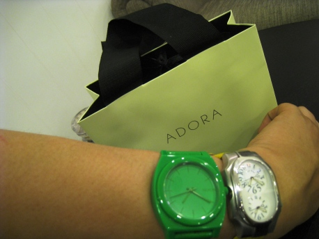 Adora - Philip Stein Signature Black Rubber Strap 09