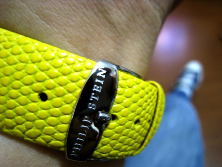 Philip Stein - Yellow Lizard Strap 00