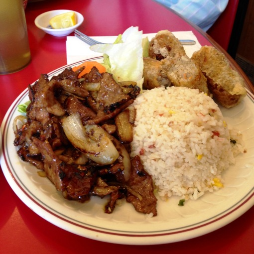 The popular – and ginormous – Spicy Chicken plate!