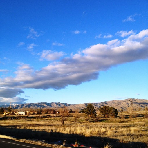 Sights in Boise are easy on the eyes.  The Foothills.  The Blue Sky.  The pristine white clouds.