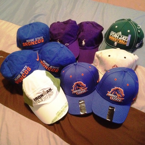 Hats galore.  The #BRONCOS are for me and my brothers.