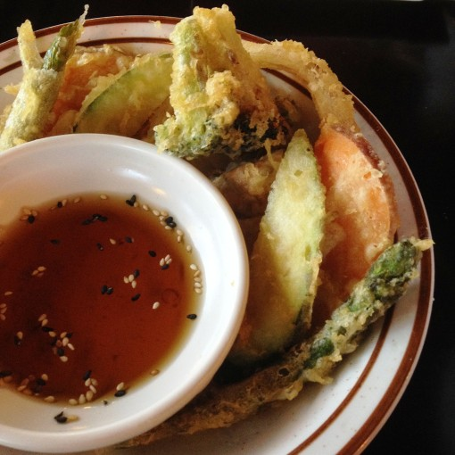 I would go through at least five of these awesome bowls of the freshest vegetable tempura.  And I could slurp that dipping sauce...  if I could.