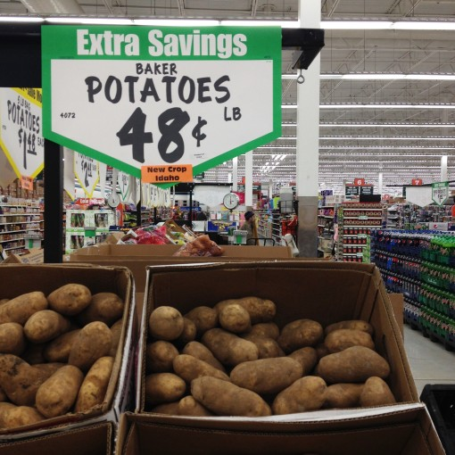 Seen at WinCo – New Crop Idaho!