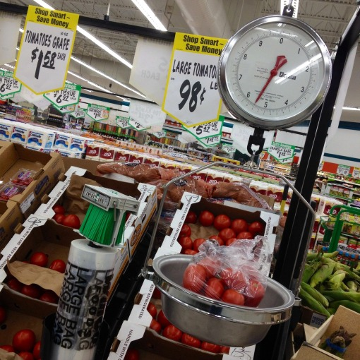 I would often go to WinCo not only for the potatoes but for – and actually more so – the tomatoes!