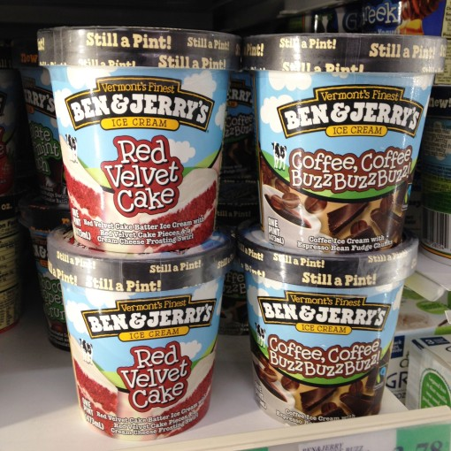Gotta keep lovin' Ben & Jerry's for not being boring.  Well, anybody who makes Red Velvet and Coffee ought to be loved.