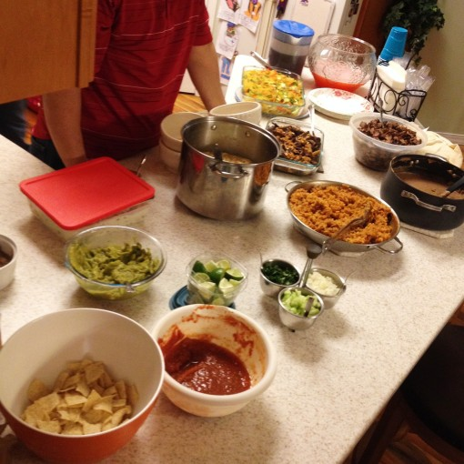 My mentor Ralph Kim and his wife and family put out a huge spread of authentic Mexican tacos.  It was a great first time experiencing this cuisine.