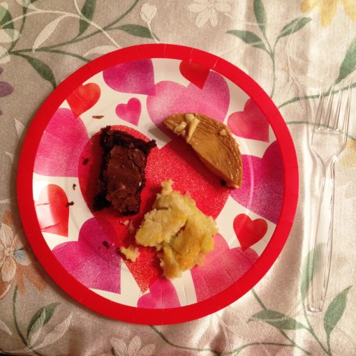 """The Mexican dinner ended with a dessert sampler!  With the brownies and the """"leche flan"""" is the unforgettable key lime pie."""