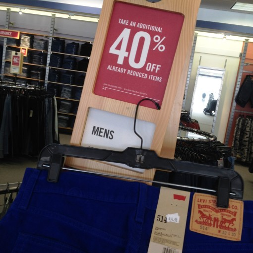 """Take an additional 40% off already reduced items.""  Were sweeter, more profound words ever uttered?!  Haha!"