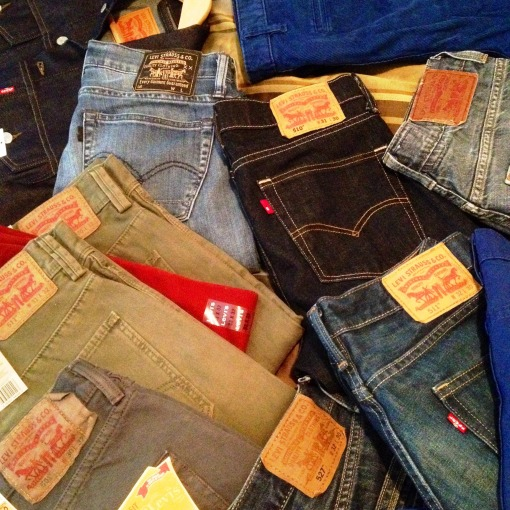 A pile of denim is also a good thing.