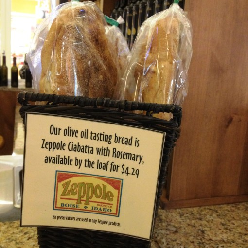 Zeppole Ciabatta is the perfect tasting bread to Olioteca's artisanal extra virgin olive oil.
