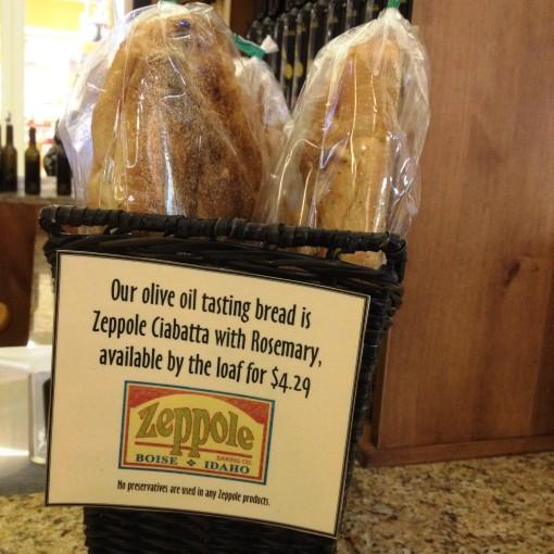 Zeppole Ciabatta is the perfect tasting bread to Olioteca's artisanal extra virgin olive oil.