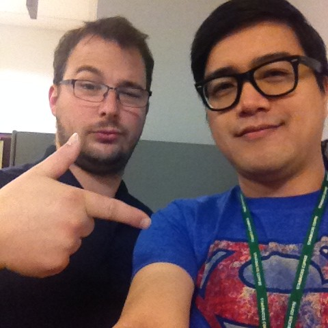#Selfie with #BBF Steele!  Of course I wore the Superman shirt in his honor.