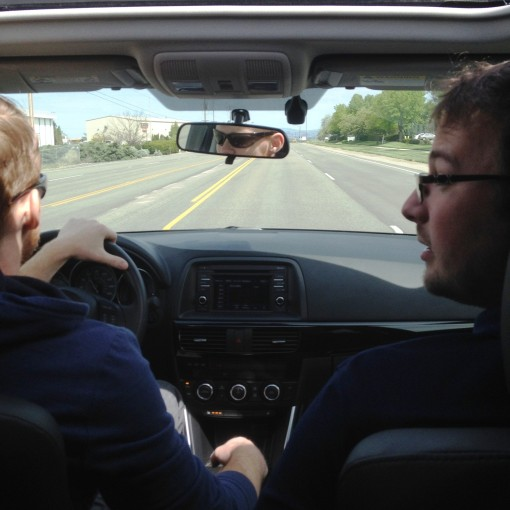 #BBF Steele with my other best friend, Zach, at the wheel.  They brought me out to lunch on this day.