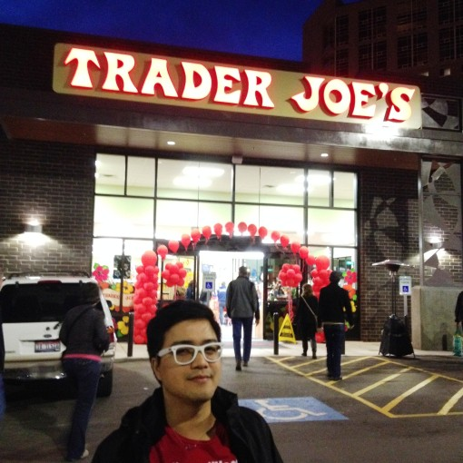 Of course I was there to welcome Trader Joe's to Boise!