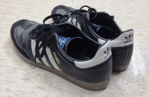 The ADIDAS Samba, Michael Fisher's trademark shoes, his biggest influence on me.