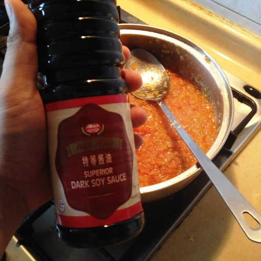 It's time for the soy sauce!  Lately, I've been in love with Woh Hup® Superior Dark Soy Sauce.