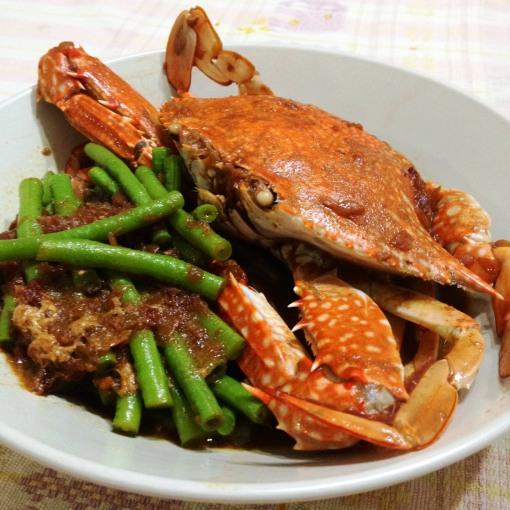 "eNTeNG's flower crab sarciado, or simply, ""Sarciadong Alimasag"""
