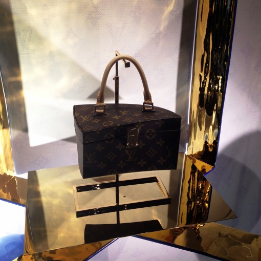 """Frank Gehry's celebration of the monogram is structured, contemporary, cutting edge.  Much like the Fondation Louis Vuitton, this bag is a """"cathedral of light"""" and a """"miracle of intelligence, creativity, and technology."""""""