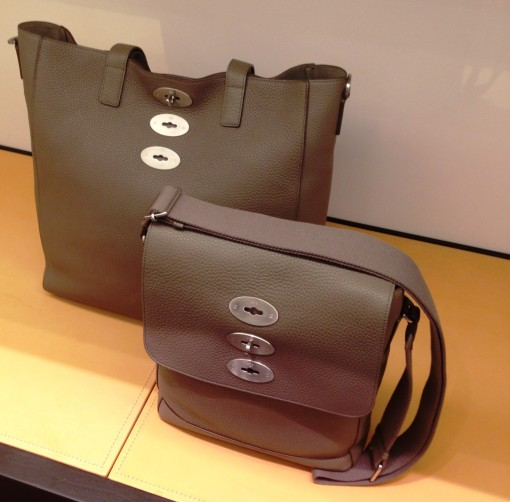 The Mulberry Brynmore – in the Tote and Slim Messenger incarnations – in Grey Soft Grain leather.  Be still my heart.