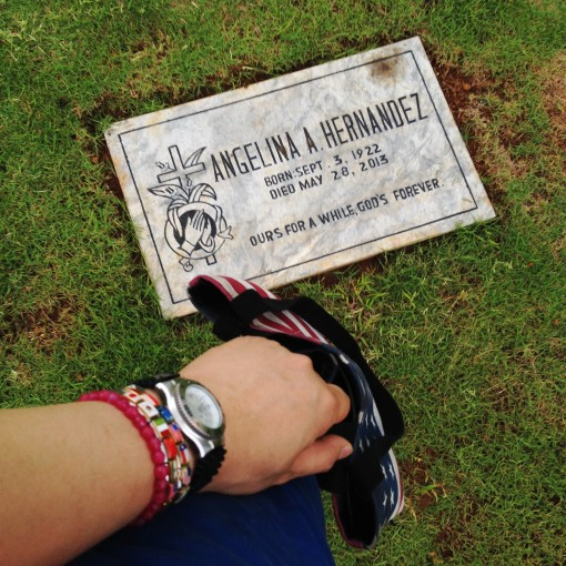 "When I'd visit her before, she would make it a point to ask, ""Anong relo suot mo?"" (""What watch are you wearing?"")  I know, she sounds like the Fashion Police.  I know exactly which her favorite wrist watch was."