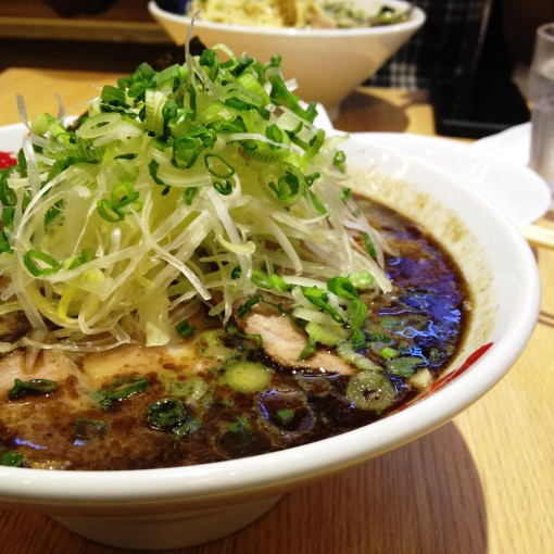 Nantsuttei Ramen's Negi Ramen.  This almost overflowing bowl is layer upon layer of flavors and textures.  And if I may add, colors!
