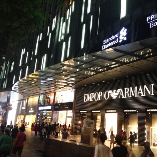 Coming from ION on Orchard, Mandarin Gallery is an array of namedroppables, beginning with EMPORIO ARMANI.