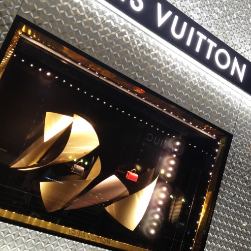 Louis Vuitton has always had amazing window displays.  They are a spectacle all their own.  Tells you that luxury is (should be) synonymous with high quality and work of art.