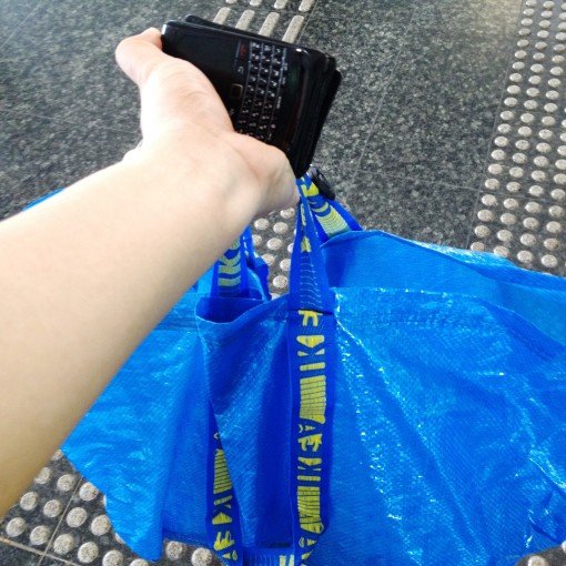 "In this IKEA® bag are the ""sinigang"" and lots of steamed Japanese pearl rice.  Just a 10-minute train ride to the VIP client."