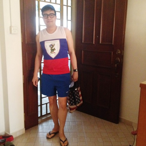 My housemate snapped this shot before I went on my way.  She thought this was an awesome #OOTD.  Haha!
